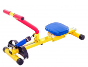 """NEW """"Happy Rower"""" - combines fun and fitness. Bright eye-catching design. Your children can have fun with friends or exercise with mum and dad, activity based recreation for a healthy future. Safe, low impact, quiet and smooth gliding exercises arms, l .."""