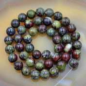 """AD Beads Natural African Dragon Bloodstone Gemstone Round Loose Beads 16"""" 4mm 6mm 8mm 10mm"""
