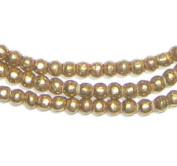 4mm Round Brass Beads - Full Strand of African Metal Spacer Beads - The Bead Chest
