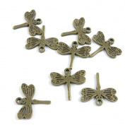 100 PCS Jewellery Making Charms Ancient Antique Bronze Fashion Jewellery Making Crafting Charms Findings Bulk for Bracelet Necklace Pendant A01273 Dragonfly