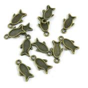 590 PCS Jewellery Making Charms Ancient Antique Bronze Fashion Jewellery Making Crafting Charms Findings Bulk for Bracelet Necklace Pendant A01454 Fish