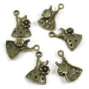 10 PCS Jewellery Making Charms Ancient Antique Bronze Fashion Jewellery Making Crafting Charms Findings Bulk for Bracelet Necklace Pendant A01293 Dress