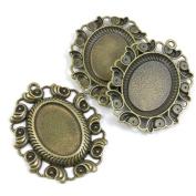 100 PCS Jewellery Making Charms Ancient Antique Bronze Fashion Jewellery Making Crafting Charms Findings Bulk for Bracelet Necklace Pendant A01075 Conch Cabochon Frame