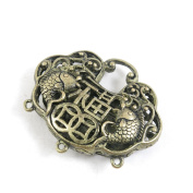 1 PCS Jewellery Making Charms Ancient Antique Bronze Fashion Jewellery Making Crafting Charms Findings Bulk for Bracelet Necklace Pendant A00952 Chinese Blessed Longevity Lock