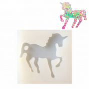 Unicorn-Shaped Silicone Jewellery Moulds, Pendant Mould with Hanging Hole for Resin Epoxy,Earring Necklace Making and DIY Jewellery Craft Making,Semi-Transparent