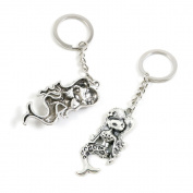 1 Pieces Keychain Keyring Door Car Key Chain Ring Tag Charms Supply Z8VR5L Mermaid