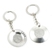 2 Pieces Keychain Keyring Door Car Key Chain Ring Tag Charms Supply O6ZG5J Love Plate