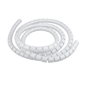 MagiDeal White 2m 20mm PE Cable Tidy Wire Storage Cable Organiser Spiral Zip Wrap