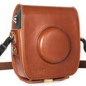 CAIUL Vintage PU Leather Case Bag for Fujifilm Instax Square SQ10 Hybrid Instant Camera