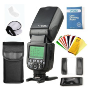 Godox Thinklite TT685O TTL Camera Flash High Speed 1/8000s GN60 0.1-2.s Recycle Time with Flash Diffuser Softbox and Flash Colour Filters and VFOTO Lens Cleaning Paper for Olympus E-M10II/E-M5II/E-M1/E-PL8/E-PL7/E-PL6/E-PL5/E-PL3/PEN-F, Panasonic DMC-C ..
