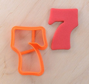 Joyous Number Seven Cookie Cutter