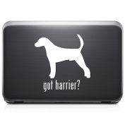 Got Harrier Dog Pet REMOVABLE Vinyl Decal Sticker For Laptop Tablet Helmet Windows Wall Decor Car Truck Motorcycle - Size (10 Inch / 25 Cm Tall) - Colour