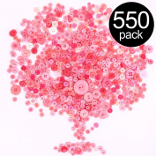 Findfly 550Pcs Resin Buttons Favourite Findings Basic Buttons 2 and 4 Holes Craft Buttons for Arts, DIY Crafts, Decoration, Sewing - Sizes Range from 0.28 to 3cm