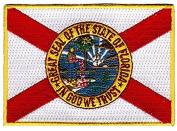 US State Flag Emboirdered Patch Iron-On Emblem by Backwoods Barnaby