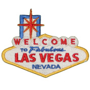 Welcome to Fabulous Las Vegas Embroidered Iron on or sew on Patch Applique 10cm