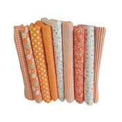 Souarts Assorted 11 Sheets Floral Fabric Bundles Quilting Sewing Patchwork Clothes DIY Craft