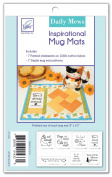 June Tailor 20cm x 25cm Finished Inspirational Mug Mats-Daily Mews