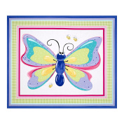 Flutter the Butterfly Flutter Wall Hanging 90cm Panel Lilac Fabric By The Yard