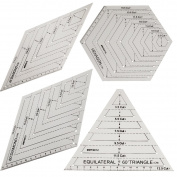 HONEYSEW Quilts Quilter's Ruler Hexagon Quilting Ruler Equilateral Traiangle Diamound
