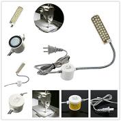 LIPOVOLT LED Sewing Machine Light Working Gooseneck Lamp 30 LED with Magnetic Base