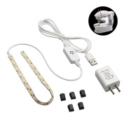 LED Sewing Machine Light Working 1.5m Cord with Touch Dimmer and USB Power Supply, 5pcs Adhesive Clips, Pure white with 3M Adhesive Tape,without Any Magnets-Fits All Sewing Machines,one year warranty