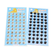HUELE 100 PCS Metal Press Studs Buttons Card 10MM Snap Closing Fasteners Dress Coat Titch Twitch Sew On Doll Baby Buttons Pewter Craft Rapid Rivet Making Poppers Tool