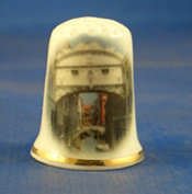 Porcelain China Collectable Thimble - Bridge of Sighs Venice with Free Gift Box