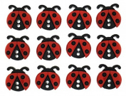 Dress It Up Shaped Novelty Buttons Ladybugs - per pack of 10