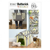 Butterick Pets Easy Sewing Pattern 5867 Toy, Organiser, House, Mat & Carry Bag