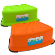 Kids Step Stool Toddler Potty Chair For Bathroom Sink Kitchen Bedroom   Safety Non-Slip Upper Surface And Rubber Base Grips Pack Of Two