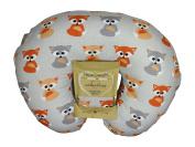 Nursing Pillow Slipcover Baby Grey Foxes Design Maternity Breastfeeding Newborn Infant Feeding Cushion Cover Case Baby Shower Gift for New Moms