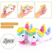 2pcs Squishy Slow Rising Toys Unicorn Wrist Rest Toy For ADD / ADHD / Anxiety and Autism Adult Children