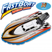 Inflating Boat Toy Motor Yacht , New Summer Outdoor Pool Ship Inflatable Toy Wind Up Swimming Motorboat Bath Toys For kids Children Birthday Gift Age 3+