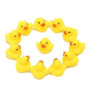 PAPAIT Yellow Rubber Bath Ducks for Child 20pcs