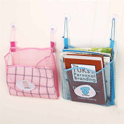 Baby Shower Bag, Essort Bath Toy Organiser Mesh Net Toy Storage Bag For Baby Boys Girls With Two Suction Cups, Portable Mesh Shower Caddies Tote, Toiletry and Bathroom Organiser Pink
