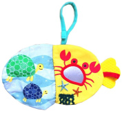 Vibola Infant Baby Kid Child Animals Fish Soft Cloth Baby Intelligence Development Learn Picture Cognize Book toys