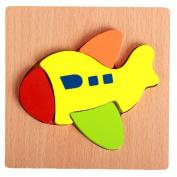 Putars Cute Kids Jigsaw Hand Grasping Puzzle Board Cartoon Wood Three-Dimensional Puzzle Toy