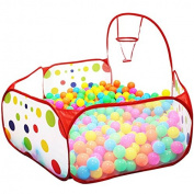 ISusser Kids Ball Pit Ball Tent Toddler Ball Pit with Basketball Hoop for Toddlers 1.2m/120CM