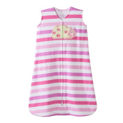 Halo Ladybug Pink Stripe Sleepsack Wearable Baby Blanket, Medium