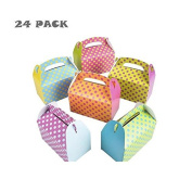 Colourful Polka Dot Party Favour Treat Boxes