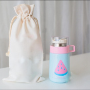 Fruit insulation Cup female student male creative stainless steel cute cup with lid children cup portable water cups , 3