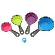 Haodasi Silicone Folding Spoon Set Measuring cups Baking Kitchen Cuisine