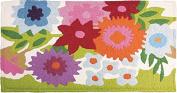 Flowery Garden with Memory Foam Bigbean 50cm x 100cm Jellybean Accent Rug