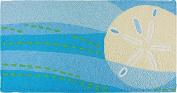 Sanddollar & Waves Memory Foam Bigbean Jellybean Accent Rug