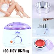Ecosin Hair Removal Hot Wax Warmer Heater Machine Pot Depilatory US Plug 110V Hair Removal Wax