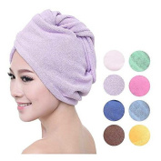 PU Beauty Microfiber Towels Ultra Absorbent Material for Quick Dry Hair, Purple, 90ml