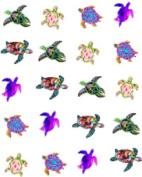 40 Sea Life Colourful Sea Turtles Nail Art Decals