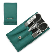 Hans Kniebes' Sonnenschein 4-Piece Manicure Set with crystal nail file, in Nappa Leather Case | made in Germany