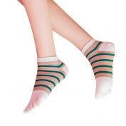 Nesee Women Pure Sports Five Toe Cotton Socks Trainer Running Finger Breathable Socks