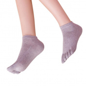 Nesee Women Five Toe Cotton Socks Pure Sports Trainer Running Finger Socks Breathable